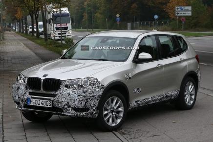 Le BMW X3 restylé enapproche