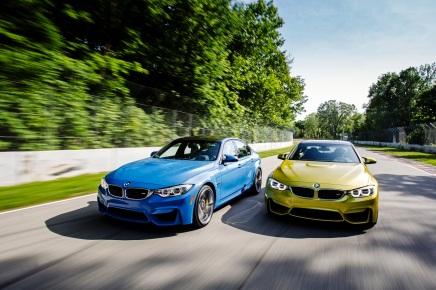Les BMW M3 et M4 enpiste