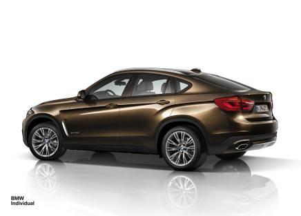 BMW présente la composition Individual pour le nouveauX6