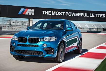 Le nouveau BMW X6 M en piste sur le circuitd'Austin