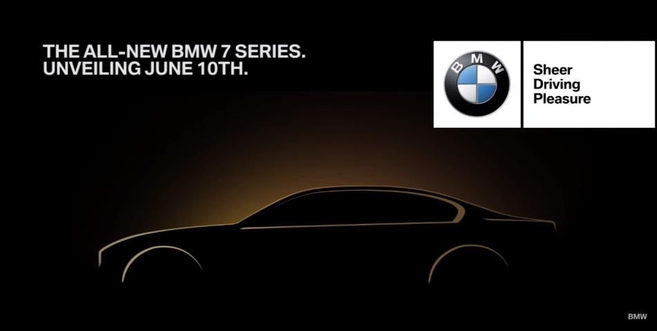 BMW va lever le voile sur la nouvelle Série 7 le 10juin