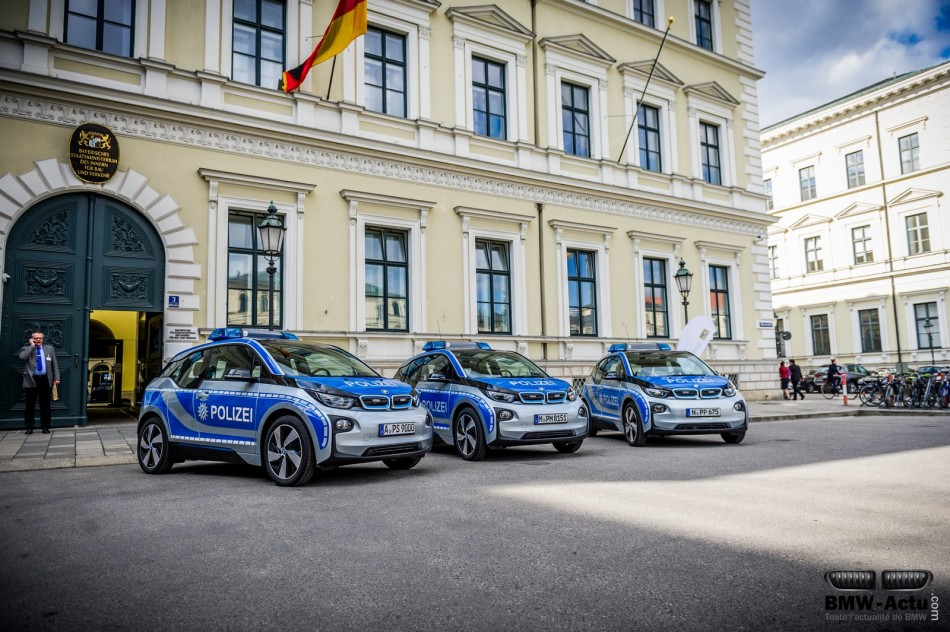 La BMW i3 intègre la flotte de la police Allemande