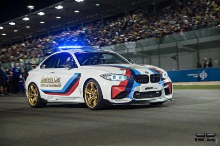 La BMW M2 Safety Car de Moto GP a fait ses débuts ceweekend
