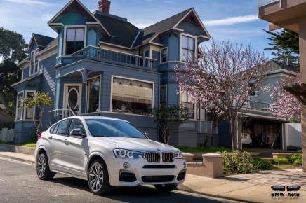 Le BMW X4 M40i et son 6 cylindres de 360 chevaux arrive enconcession